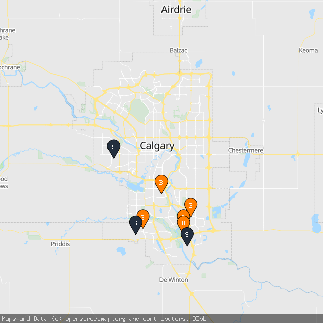 Map of Kimberly M.'s transactions