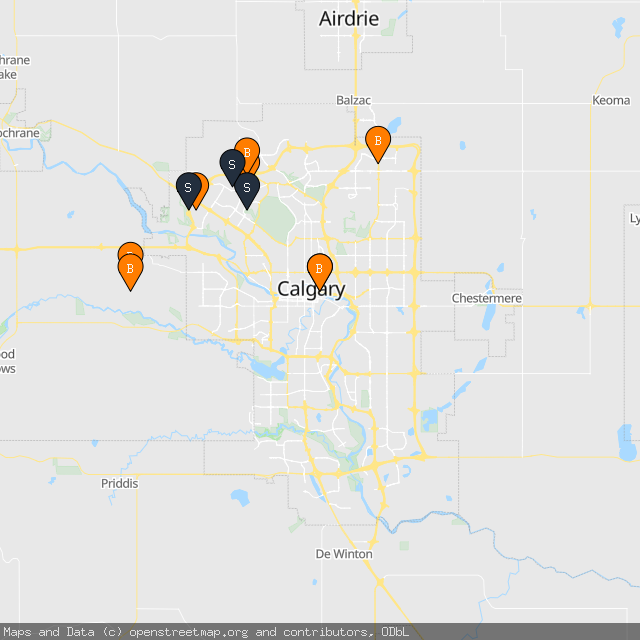 Map of Stewart L.'s transactions