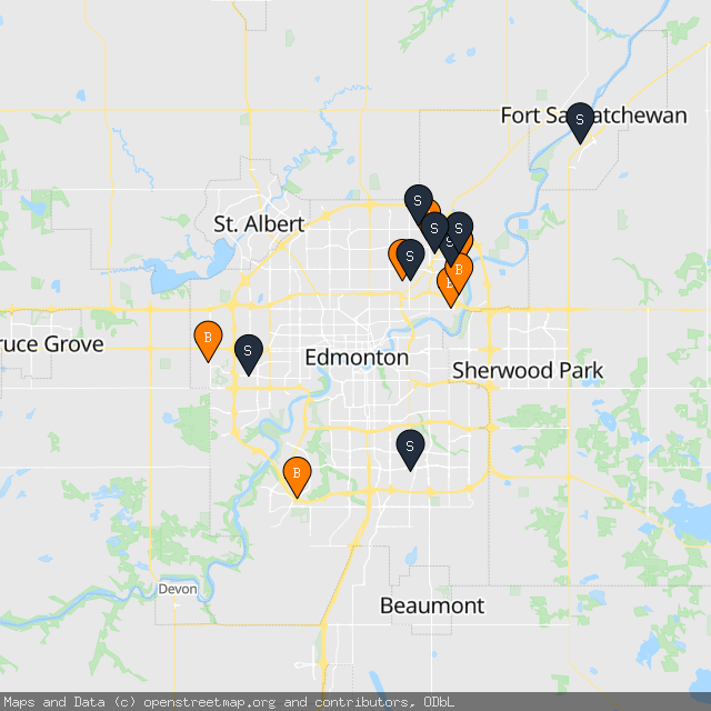 Map of Victoria C.'s transactions